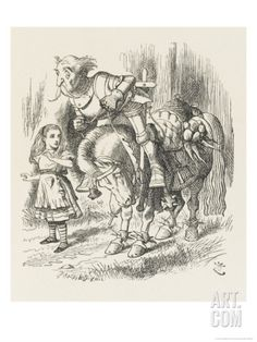 White Knight Alice and the White Knight Giclee Print by John Tenniel at Art.com