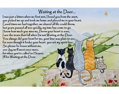 Rainbow Bridge Cat Memorial pet bereavement gift x Print - unframed Beautiful Verses, The Beautiful South, Beautiful Artwork, Rainbow Bridge Cat, Pet Sympathy Cards, Bereavement Gift, Cat Memorial, Pet Loss, Animal Quotes