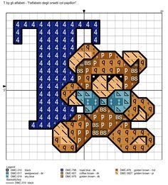 Alfabeto degli orsetti col papillon: T