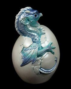 "Windstone Editions ""Blue Ice 2"" Hatching Emperor Dragon Figurine Statue | eBay #dragon #figurine #egg"