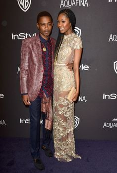 Xosha Roquemore and Keith Stanfield Photos Photos - Actor Keith Stanfield (L)… Im So Fancy, Its A Mans World, Fashion 2020, Awards, Menswear, Sari, Street Style, Actors, Formal Dresses