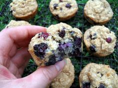 Healthy Blueberry Muffins  Can sub buttermilk for 1/2 cup real milk 1/2 tsp lemonjuice.