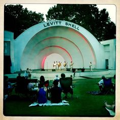 The Levitt Shell hosts 50 free concerts and numerous other events – paid concerts, film screenings, water gun fights – every year.