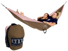 I own this in pink/purple. :)  DoubleNest Hammock from Eagles Nest Outfitters Inc. - Lightweight Outdoor Parachute Nylon Hammocks along with optional Slap Straps Hammock Suspension.