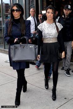 Kim & Kourtney are photographed filming their show in NYC 10/5/10 - kim-kardashian Photo