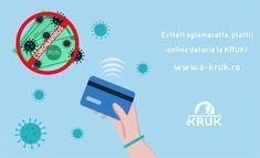 Clientii KRUK pot evita aglomeratiile platind datoria online, pe www.e-kruk.ro! Amintiti-va doua dintre sfaturile autoritatilor: • Evitati sa iesiti din casa daca nu este absolut necesar. • Platiti cu cardul. #faradatorii #coronavirus #viatafaradatorii