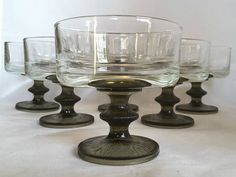 #Italian~#Vintage~#Retro~#MCM~Clear & Smoked~Footed~Pedestal~Glass~Sundae~Ice Cream~Dessert~Dishes~Set of Six by seraphimslair on #Etsy  See my #Etsy #Twitter #Facebook & #Instagram for an array of beautiful #art #glass #collectibles & #gifts! https://www.ebay.co.uk/usr/seraphimslair2 https://twitter.com/Seraphimslair https://www.instagram.com/seraphimslair5stars/ https://www.etsy.com/uk/shop/seraphimslair