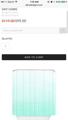 """I like the extra long version of this shower curtain! 90"""""""