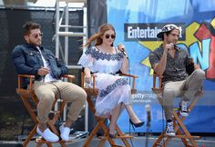 Actors Cody Christian, Holland Roden and Tyler Posey attend the Entertainment Weekly Con-X at Embarcadero Marina Park North on July 22, 2016 in San Diego, California.