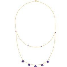 Fantastic trilliant cut amethysts sparkle mysteriously in a deep and rich indigo colour on this fine gold vermeil necklace. Amethyst Necklace, Pendant Necklace, Indigo Colour, Amethysts, How To Look Classy, Gold Plating, Minimalist Design, Clarity, Natural Beauty