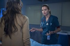 "THE NIGHT SHIFT -- ""Grace Under Fire"" -- (Photo by: Lewis Jacobs/NBC) Pictured; Jill Flint as Jordan Alexander and Daniella Alonso as Landry de la Cruz"