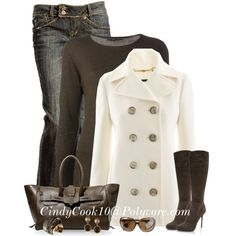 I like this whole ensemble, semi casual, classy, and chic.