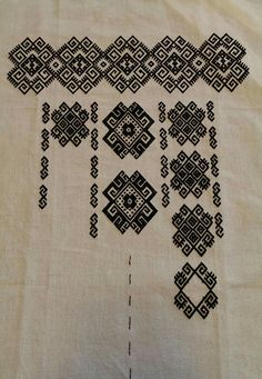 Ukraine, from Iryna Cross Stitch Samplers, Cross Stitch Charts, Cross Stitching, Folk Embroidery, Embroidery Designs, Folk Clothing, Embroidered Clothes, Bargello, Tatting