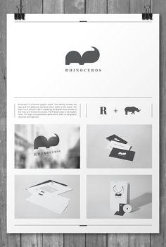 Rhinoceros identity by Kiss József Gergely, via #Behance #Identity #Branding