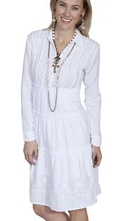 4b0a2aa906ea0f This Scully Womens Pull Over White Western Dress is 100% Peruvian cotton  dress is knee