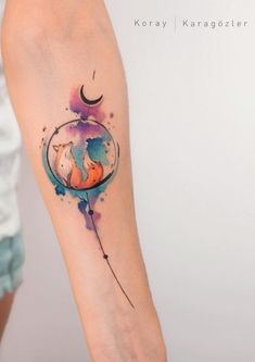40 Marvelous Watercolor Tattoos - 40 Marvelous Watercolor Tattoos You are in the right place about tattoo hombre Here we offer you th - Body Art Tattoos, Sleeve Tattoos, Tatoos, Key Tattoos, Skull Tattoos, Tattoo Ink, Watercolor Fox Tattoos, Abstract Tattoos, Aquarell Tattoos