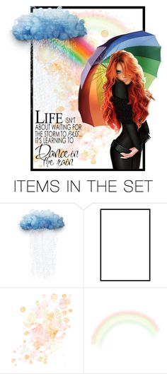 """""""Illustrated in Rain"""" by angelarmoyer ❤ liked on Polyvore featuring art"""
