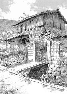 Adult Coloring Pages-Kleuren Voor Volwassenen Architecture Background, Architecture Drawings, Architecture Panel, Architecture Portfolio, Architecture Design, Farm Coloring Pages, Landscape Drawings, Urban Sketching, Pyrography