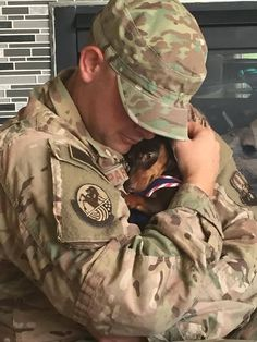 Soldier and a Doxie