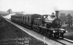 somerset and dorset railway | One of the handsome S&D engines on the main line at the end of the nineteenth century