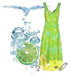 """Water n lime!"" by anna-ruchkina ❤ liked on Polyvore featuring Piazza Sempione, Jimmy Choo and Blue Nile"