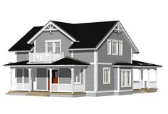 Husmodeller | Trähus | Huspaket | Teri-Hus | Övriga modeller | 1½-plan | L-14138 / 183 m² Narrow House, Home Again, Case, Home Fashion, Colonial, Ikea, House Ideas, New Homes, Floor Plans