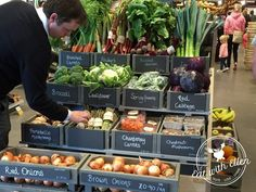 Fruit and veg display at Gloucester Services
