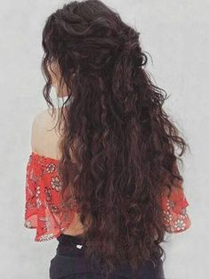 Long Center Parting Fluffy Corn Hot Wavy Synthetic Wig A hairstyle, hairdo, or haircut refers to the Curly Hair Styles Easy, Natural Hair Styles, Short Hair Styles, Hair Styles For Long Hair For School, Pretty Hairstyles, Easy Hairstyles, Long Curly Hairstyles, Long Haircuts, Wedding Hairstyles