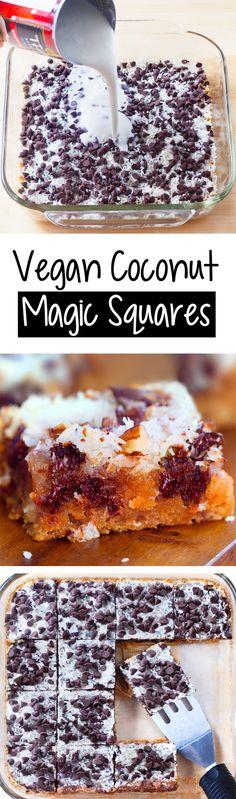 Vegan Coconut Magic Squares Recipe (7 Layer Bars)