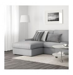 IKEA KIVIK Two-seat and chaise lounge Orrsta light grey