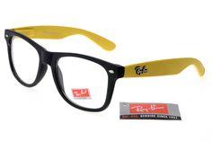 Rare Print Ray Ban RB31 Online Black Yellow Frame Transparent Lens  $14.87