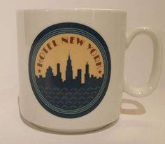 Are you one of those people that can't get enough of NY? This mug will grab your eye as it's from Euro Disney's acclaimed Hotel New York! It features our favorite skyline New York City!