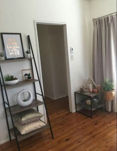 Industrial ladder and side table