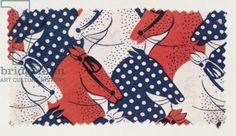 http://www.bridgemanart.com/asset/114129/French-School-20th-century/Horse-textile-design-France-1940s-screenprinted