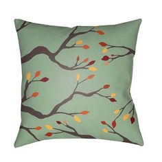 Buy the Surya Green Direct. Shop for the Surya Green Branches Wide Square Botanical Polyester Covered Polyester Filled Accent Pillow and save. Floral Throws, Floral Throw Pillows, Outdoor Throw Pillows, Toss Pillows, Black Weave, Patio Cushions, Green And Brown, Throw Pillow Covers, Indoor Outdoor