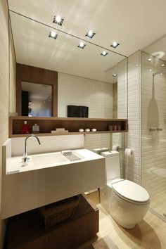 Tiny house bathroom - Looking for small bathroom ideas? Take a look at our pick of the best small bathroom design ideas to inspire you before you start redecorating. Bathroom Toilets, Bathroom Renos, Bathroom Layout, Bathroom Interior, Modern Bathroom, Bathroom Storage, Bathroom Ideas, Small Bathrooms, Bathroom Furniture