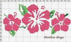 cross stitch hibiscus | aloha Hawaiian cross stitch pattern