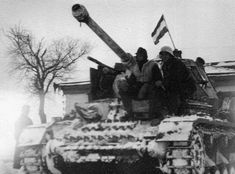 Hungarian soldiers on the armored tank Pz.IV on the Eastern Front, 1943 - pin by stinky old poop stain Ww2 Tanks, Photo Dump, Axis Powers, Panzer, Skin So Soft, Historian, Budapest, Military Vehicles, Wwii