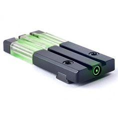Meprolight Self-Illuminated Fiber-Tritium Bullseye Circle Dot Rear Sight for Glock Pistols,Green