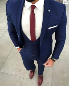 2017 Latest Coat Pant Designs Navy Blue Men Suit Jacket Prom Tuxedo Slim Fit 3 Piece Groom Style Suits Custom Blazer Masuclino