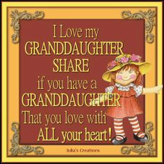 With All My Heart!!! Two Granddaughters!!!
