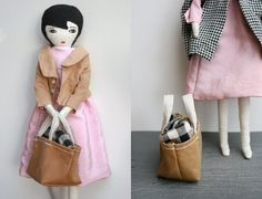 stylish handmade doll from Le Train Fantome