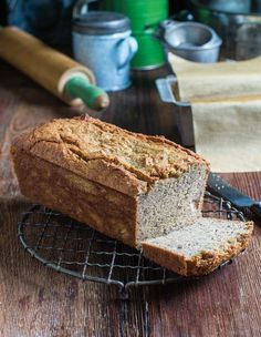 Paleo Banana Bread Recipe (This paleo banana bread recipe is made with almond flour, coconut flour, maple syrup, and cardamom, among other gluten-free and dairy-free ingredients.)