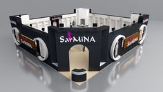Sarmina exhibition fair stand design 3d model