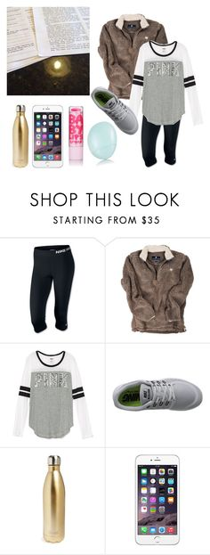 """""""So much Geography these days"""" by lydia-hh ❤ liked on Polyvore featuring NIKE, S'well and Topshop"""