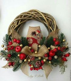 Christmas Wreaths With Lights, Pink Christmas Decorations, Holiday Wreaths, Winter Wreaths, Spring Wreaths, Summer Wreath, Tree Decorations, Holiday Decor, Noel Christmas