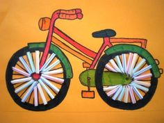 Bicycle cutting and pasting, spokes of straws # bicycles Bicycle cutting and pasting, … – Knippen Art For Kids, Crafts For Kids, Classroom Art Projects, How To Make Toys, Woodland Party, Cute Crafts, Elementary Art, Art Lessons, Transportation