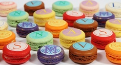 OMG! Perfection! ---------- Custom Macaron Toppers- Monogram - Rogue Confections