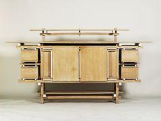 Mobiliario Moderno DeStijl - Neukenhouten Dressoir (Buffet). Designer: Gerrit Rietveld, 1919  #FormaeFunção #LinhasRetas #LinhasSimples #FormasGeométricas