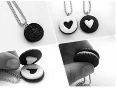 Oreo necklace. love this!!
